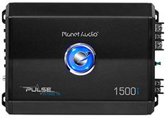 Planet Audio PL1500.1M Pulse 1500 Watt, 2 Ohm Stable Class A/B, Monoblock, Mosfet Car Amplifier with Remote Subwoofer Control - Get your music thumping with the Planet Audio Pulse PL1500.1M Class A/B Monoblock Amplifier. This powerful 2-Ohm stable Amplifier features 1500 Watts Max Power with a MOSFET power supply to pump out your playlists. Customize the sound with Variable Low Pass Crossover and Switchable Bass Boost. Tw...