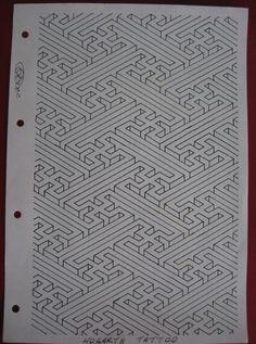 Swastika pattern 3-D.