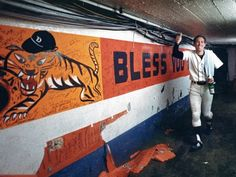 Detroit Tiger Alan Trammell comes back from the field back to the Clubhouse after winning the World Series in 1984 at Tiger Stadium in Detroit.