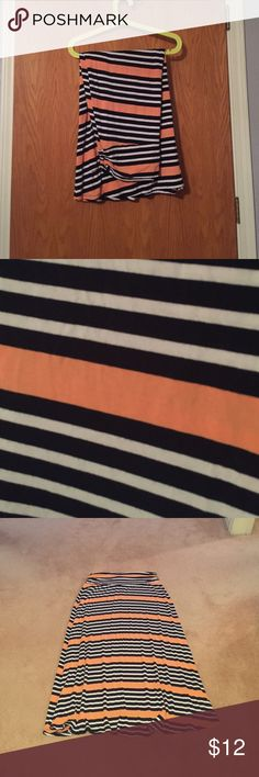 Merona brand maxi skirt XXL Cute maxi skirt- super soft. Worn maybe 4-5 times. Good condition. Stripes are a very dark navy blue. Merona Skirts Maxi
