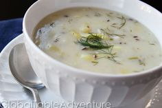 Czech potato and pickle soup Slovak Recipes, Czech Recipes, Ethnic Recipes, Lithuanian Recipes, Sauerkraut, Slovakian Food, Pickle Soup, Soup Recipes, Cooking Recipes