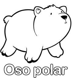 de oso polar para colorear dibujos infantiles y dibujos de animales ...