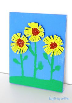 Sunflower Egg Carton Craft - Easy Peasy and Fun