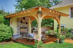 gazebo ideas backyard | ... Gazebo Backyard With Firepit Ideas 568x377 Attractive Nice Decor Cool