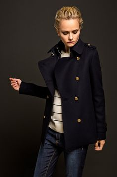 The Equestrian Collection, Massimo Dutti, Otoño 2013 Invierno 2014 Fall Winter Outfits, Autumn Winter Fashion, Fashion Mode, Womens Fashion, Boho Fashion, Style Fashion, Fashion Dresses, Equestrian Collections, Navy Trench Coat