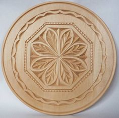 Chip Carving—Plate with Scandinavian design