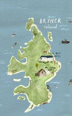 Map of Bryher by Illustrator Livi Gosling