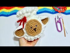 Borreguito de la abundancia para recibir el año nuevo!! - YouTube Crochet Earrings, Crochet Hats, How To Make, Angel, Youtube, Mason Jars, Holiday Ornaments, Knitting Hats, Youtubers