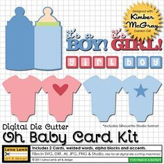 Baby card svg kit.