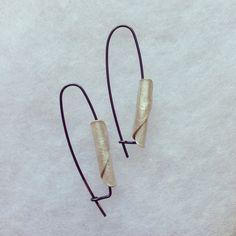 Fold & Form Collection Drop Earrings, Silver & Oxidised Silver by Rachel Jones www.rachel-jones.com