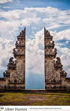 WOW! The Pura Lempuyang Door in Bali - think of how inventive you could get with the holiday snaps here!  www.westernoriental.com/bali