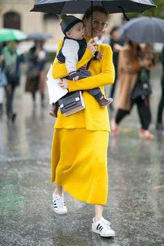 Attendees at Paris Fashion Week Spring 2016 - Street Fashion