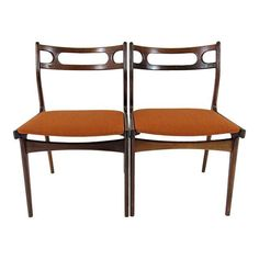 Image of Johannes Andersen Danish Modern Dining Chairs - A Pair