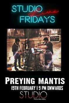 Preying Mantis performs tomorrow night from 9 pm at Studio, Novotel Kolkata. Happy Hours from 6 pm onwards.