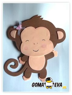healthy snacks for preschoolers and toddlers worksheets kids Kids Crafts, Foam Crafts, Preschool Crafts, Diy And Crafts, Arts And Crafts, Paper Crafts, Monkey Crafts, Jungle Party, Animal Crafts