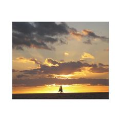 Sail boat at sunset gallery wrapped canvas