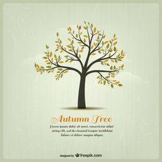 Molde da árvore de outono Vetor grátis