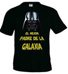 "Camiseta Star Wars ""Darth Vader,el mejor padre"" manga corta (Talla: Talla XL Unisex Ancho/Largo [58cm/76cm] Aprox]) #regalo #arte #geek #camiseta"