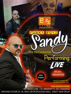 SANDY The percussionist performing live at Buzz Saket.... Buzz Saket presents A memorable evening of melodies with SANDY The Percussionist Performing Live.One of the most popular drummers in the city, He loves to experiment and will be jamming with DJ Rahul for an interesting mix of music. Sandy is one of the rare instrumentalists who is known for his versatility and ability to play a variety of percussions. Catch him performing live at Buzz Saket....  #Wednesday #Nightlife #Music #Live