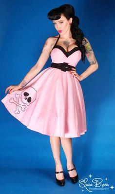 Deadly Swing Dress w/Skull