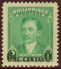 DEC Jose Rizal O. (Official Business) Re-issued with Black Overprint - 1948 Jose Rizal. 2 Centavo - Singles, Sheets of Vintage Stamps, Vintage Prints, Vintage Posters, Vintage Designs, Jose Rizal, Commemorative Stamps, Painting Words, Stamp Collecting, Philippines