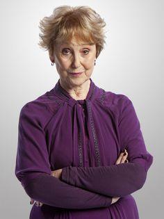 Una Stubbs as Mrs. Hudson on BBC Sherlock. She's not his housekeeper! Heh heh