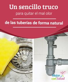 Un sencillo truco para quitar el mal olor de las tuberías de forma natural Uno… Cleaning Solutions, Cleaning Hacks, Clean My House, Diy Table Top, Power Clean, Organic Cleaning Products, Home Fix, Do It Yourself Home, Home Hacks