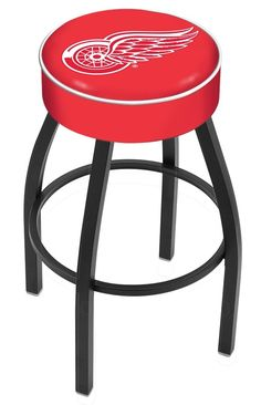 "Detroit Red Wings 4"" Seat Bar Stool. Def getting some for future home."