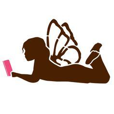 Reading Fairy Stencil