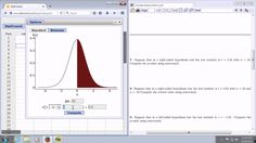 Computing the P-Value using the Test Statistic and StatCrunch in a Right Tailed T-Test Statistics Help, P Value