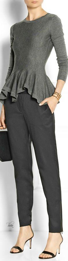 @roressclothes clothing ideas #women fashion  wool peplum sweater: