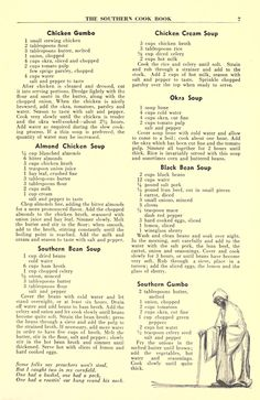 Southern Recipes The Southern cook book of fine old recipes : Lustig, Lillie S, ed : Free Downloa… Retro Recipes, Old Recipes, Cookbook Recipes, Vintage Recipes, Cooking Recipes, Diner Recipes, Recipies, Edna Lewis Recipes, Vintage Cooking
