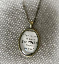 Jeremiah 29:11 Verse Necklace. $15.50, via Etsy.