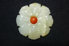 A Chinese jade flower, Ming Dynasty