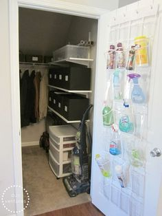 ideas small coat closet storage under stairs for 2019 Coat Closet Organization, Closet Shelves, Closet Storage, Storage Organization, Storage Design, Bedroom Organization, Storage Ideas, Wardrobe Storage, Understairs Closet