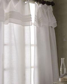 White Pleated vlanance organic Linen living room by Davesoninc