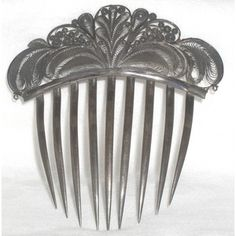 Early Victorian filigree hair comb