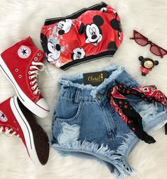 ᴘɪɴᴛᴇʀᴇsᴛ ❂ ᴄʜᴀʀᴍsᴘᴇᴀᴋғʀᴇᴀᴋ cute summer outfits, outfits for teens, disney Cute Disney Outfits, Disneyland Outfits, Cute Lazy Outfits, Crop Top Outfits, Teenage Outfits, Outfits For Teens, Pretty Outfits, Stylish Outfits, Girls Fashion Clothes