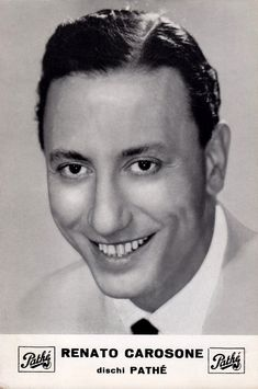 Renato Carosone: composer, bandleader, piano soloist, singer, recording producer, movie actor, TV host and guest star.