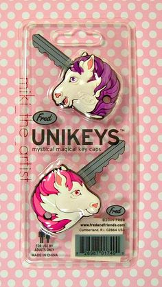 @efbomb and @kellybelly unicorn key covers from my cousins!