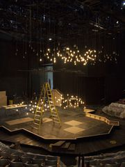 """Above: The set of """"Peter and the Starcatcher"""" is being"""