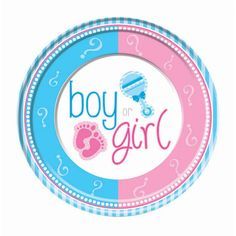 Gender Reveal 9 inch Luncheon Plates - Party Supplies - 8 per pack - 1 pack, Size: One size, Multi-color Dibujos Baby Shower, Imprimibles Baby Shower, Gender Reveal Party Decorations, Baby Shower Decorations, Baby Shower Party Supplies, Baby Shower Parties, Paper Manufacturers, Baby Favors, Disposable Plates