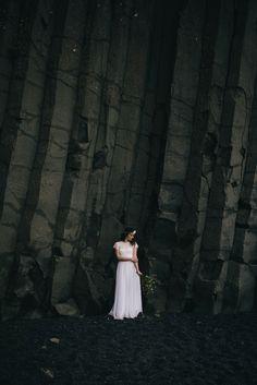 Iceland Elopement - Wear Your Love - Charis Rowland Photography - black sand beach - Vik - bride - Iceland wedding