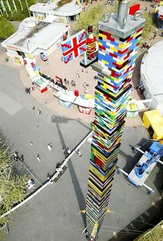 World's tallest LEGO tower (100 ft)