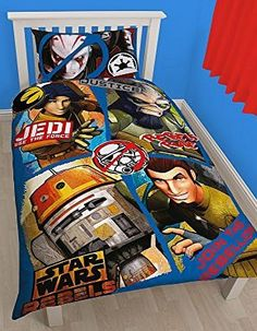 Star Wars Clone Wars Star Wars Rebels Tag Single Duvet Cover and Reversible - 2 designs in 1. 50% cotton, 50% polyester. Machine washable. (Barcode EAN=5055285345488) http://www.comparestoreprices.co.uk//star-wars-clone-wars-star-wars-rebels-tag-single-duvet-cover-and.asp