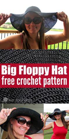 Big Floppy Hat Crochet Pattern