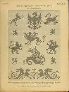 Antique charts: Heraldry and dragons