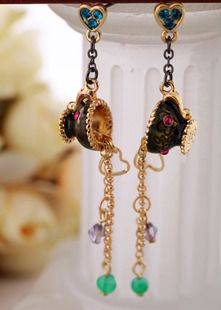 European and American fashion earrings jewelry wholesale personalized small cup tassel female earrings ,shop at Costwe.com