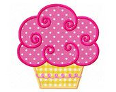Cupcake 02 Digital Applique-4x4 5x7 6x10-Machine Embroidery Design Applique