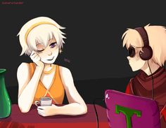 Homestuck rose lalonde and dave strider on homestuck new year